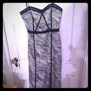 Bcbg strapless long dress 6